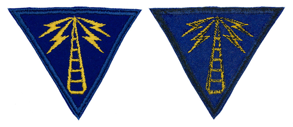 English made WWII U.S. Army Air Corps Communications Specialist Felt Sleeve Insignia