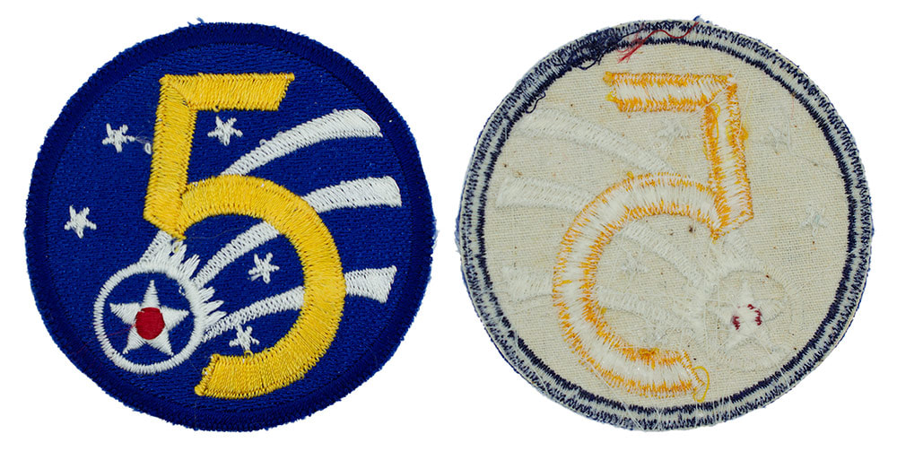 Japanese made WWII U.S. Fifth Air Force (5 AF) Sleeve Insignia Patch