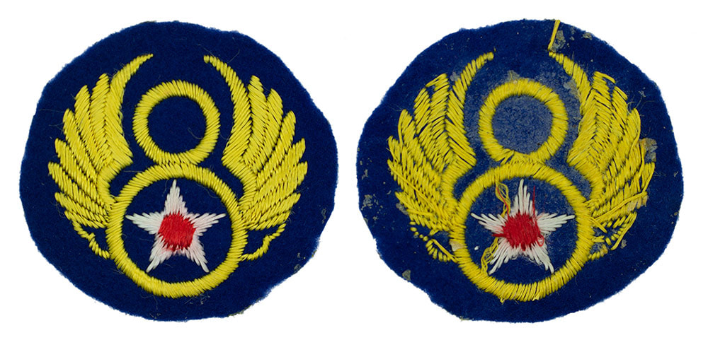 English made WWII U.S. Eighth Air Force (8 AF) Felt Sleeve Insignia Patch