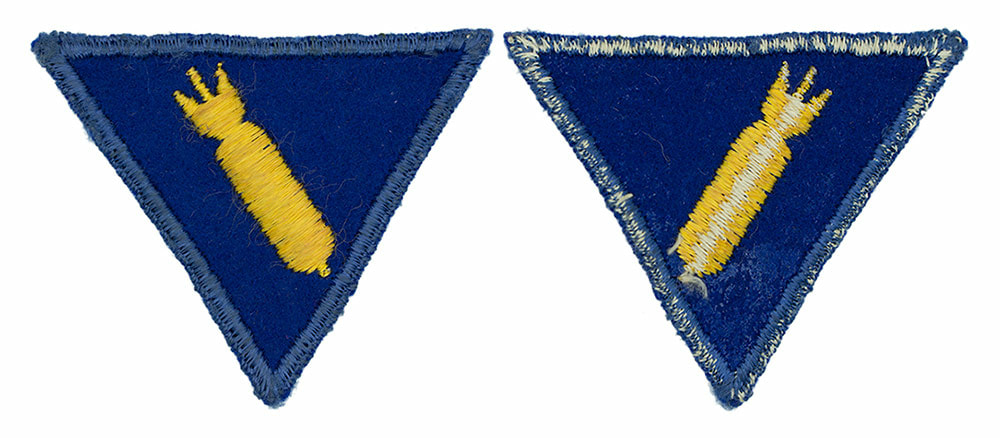 English made WWII U.S. Army Air Corps Armament Specialist Felt Sleeve Insignia