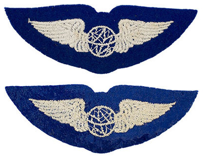 English made WWII U.S. Army Air Corps Navigator​ Felt Wing Badge Insignia