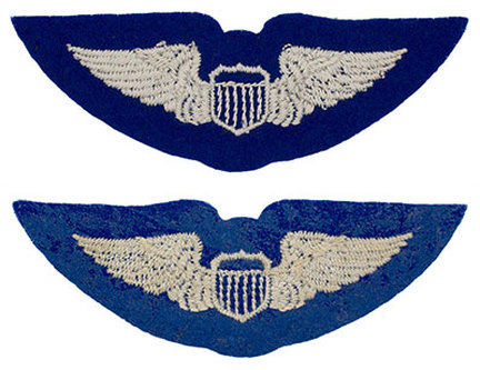 English made WWII U.S. Army Air Corps Pilot​ Felt Wing Badge Insignia