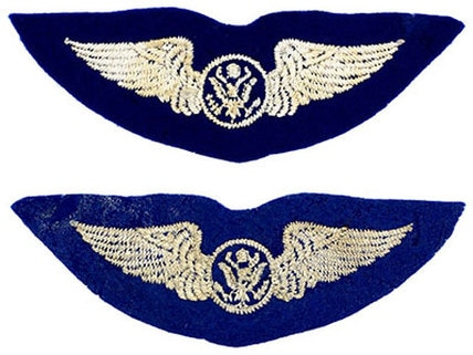 English made WWII U.S. Army Air Corps AirCrew Felt Wing Badge Insignia