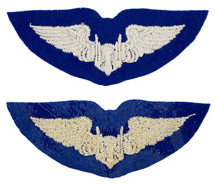 English Made WWII U.S. Army Air Corps Aerial Gunner Felt Wing Badge Insignia
