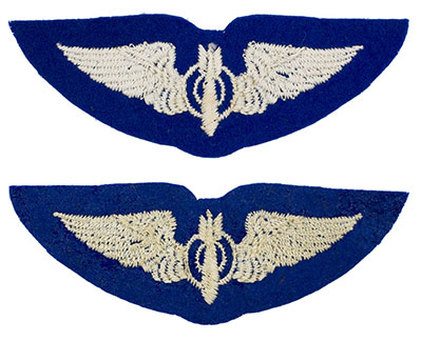 English made WWII U.S. Army Air Corps Bombardier Felt Wing Badge Insignia